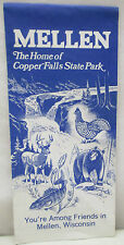 Vintage Mellen Wisconsin Home of Copper Falls State Park Map Brochure