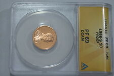 USA LINCOLN CENT 1996-S PROOF ANACS PF69DCAM B21 KEN5