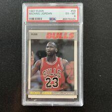 1987 Fleer Basketball Michael Jordan #59 PSA 6 EX-MT