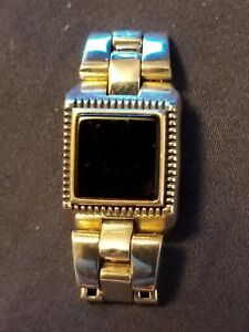 Rare Petek Sterling Silver & Onyx Wrist Watch Designed Ring (Size 9)