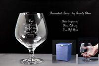 Personalised 18oz Brandy Balloon Glass Christmas Gift
