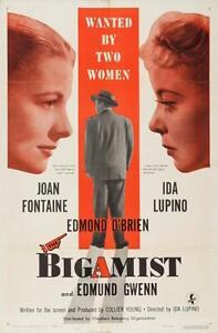 The Bigamist 1953  Edmond O'Brien, Joan Fontaine Film-Noir Drama DVD