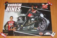 2016 Andrew Hines Screamin' Eagle Vance & Hines Harley-Davidson PSM NHRA Poster