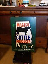 "Alabama Master Cattle producer Sign Metal 29"" x 20"""
