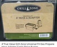 4' Grill Zone Universal Fit Gas Propane Hose and Adapter