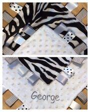 Zebra di LUSSO BABY TAGGY Consolatore, blu, bianco rosa, lilla,... può essere personalizzato