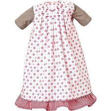 Käthe Kruse Puppenkleidung, Bekleidung für Lolle, Kleid weiß-rot, 54 cm Puppen