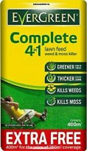 Lawn Care FEED Weed and Moss Killer Bag 400sqm Complete 4-in-1 INC EXTRA FREE