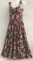 """Laura Ashley  Uk12 34"""" B Vintage Fit And Flare T Dress Floral Classic Events"""