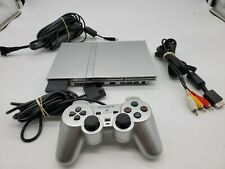 Sony PlayStation 2 Slim SILVER PS2 Console SCPH-79001  TESTED!