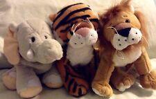 LOT OF 3 WEBKINZ BY GANZ NWT LION TIGER ELEPHANT #HM175 HM166 HM167 BY GANZ