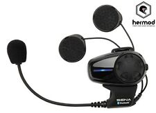 Sena SMH10 Bluetooth Intercom Single Motorcycle Helmet Kit - Open Face/Flip Up