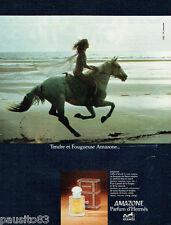 PUBLICITE ADVERTISING 115  1978  AMAZONE parfum d'HERMES
