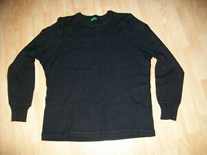Benetton Womens Size M Wool Blend Black Jumper (Regular)