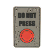 Velcro PVC Morale Patch - MAXPEDITION - DO NOT PRESS - SWAT - RED BUTTON pattern