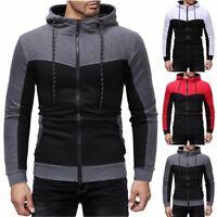 Warm Winter Men Hoodies Slim Fit Hooded Sweatshirt Outwear Sweater Coat Jacket