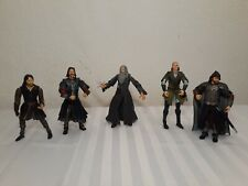 "​Lord Of The Rings Used Lot 0f 5 Marvel Action Figures 6"" 2001-2003"