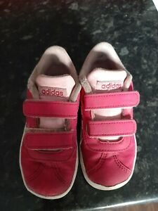 Pink, Girls Adidas Trainers, infant size 7