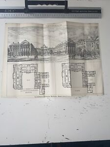 1888 Building News Architecture Antique Admiralty Extensions Whitehall