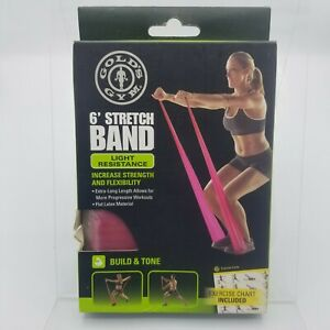 Golds Gym  Stretch Band 6foot  Light Resistance Flexibility Core With Guide New