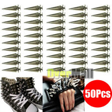 50Pcs 26mm Silver Spots Cone Screw Metal Studs Leathercraft Rivet Bullet Spikes