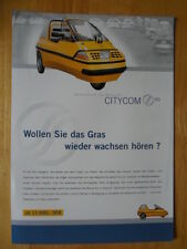 CITY-EL Electric Microcar Trike rare brochure c1998 - City Com Germany