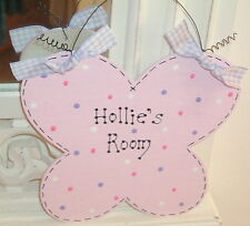 PERSONALISED Girls Bedroom Sign ~ BUTTERFLY Polka Dot