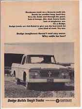 1965 DODGE PICKUP TRUCK  ~  RARE ORIGINAL PRINT AD