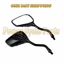 mirrors Scooter Moped Vespa GY6 Dio ATVs REAR 50cc 90cc 150cc Skull Z19 8MM 10MM