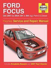 Haynes Owners + Workshop Car Manual Ford Focus Petrol + Diesel (01- 04) 4167