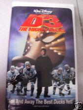 Disney D3 The Mighty Ducks 1997 VHS Emilio Estevez