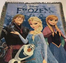 Disney Frozen Tapestry Throw 48x60 Blanket Wall Hanging Features Elsa Anna Olaf
