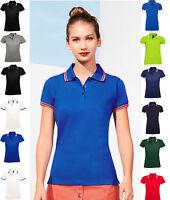 SOL'S Ladies  Tipped Cotton Piqué Polo Shirt - Premium Quality - Ladies Fit