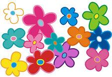 Blumen Aufkleber Hippie Blumen Auto Aufkleber: Mini 12 - 51 Stk. - bunt gemischt