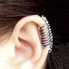 Ear Cuff Women Stud Pierced Piercing Clip Hand Earrings Punk Skull Gothic