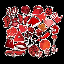 27 x Red Stickers Vinyl Decal Sticker Bomb Pack Funny