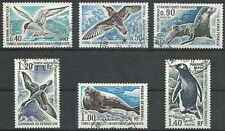 Timbres Faune marine Phoques Oiseaux TAAF 55/60 o lot 21450