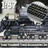 1/87 Model Train Wheels Ho Scale Metal Treadmill Track Accessories Set Free  j