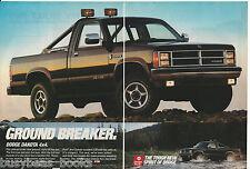 1988 DODGE DAKOTA Pickup 2-page advertisement, Dodge Dakota 4x4 pickup