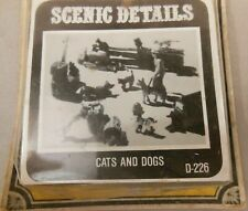 HO Scale Woodland Scenics Cats and Dogs  D226 NIP KIT *