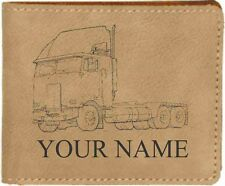 78 Peterbilt w/sl Leather Billfold With Drawing and Your Name On It-Nice Quality