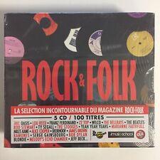 Rock & Folk 5 cd 100 titres neuf sous blister