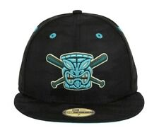 Exclusive New Era 59Fifty 7 7/8 Chamuco Tiki Fitted Cap Hat Club Black, Teal UV