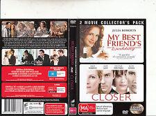 My Best Friend's Wedding-1997/Closer-2004-Julia Roberts-[2 Disc] 2-Movie-DVD