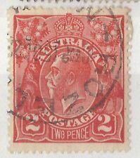 K190) Australia. 1918/23.  Used.  SG63 2d Bright rose-scarlet. Royalty.