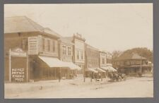 1909 Real Photo Postcard Hyannis, Mass. Business Section Horse & Buggy, Signs