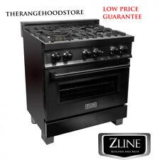"New Pro Zline 30"" Black Stainless 4 Gas Burner/Electric Oven Range (Rab-30)"