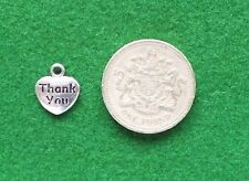 STAINLESS STEEL Thank you for helping us grow TEACHER HEART CHARM 31mm~ 97E UK