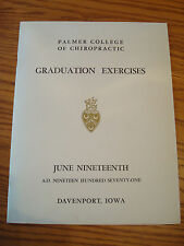 PALMER COLLEGE OF CHIROPRACTIC GRADUATION EXCERCISES 1971