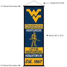 West Virginia University Mountaineers Room Banner Poster Art Canvas